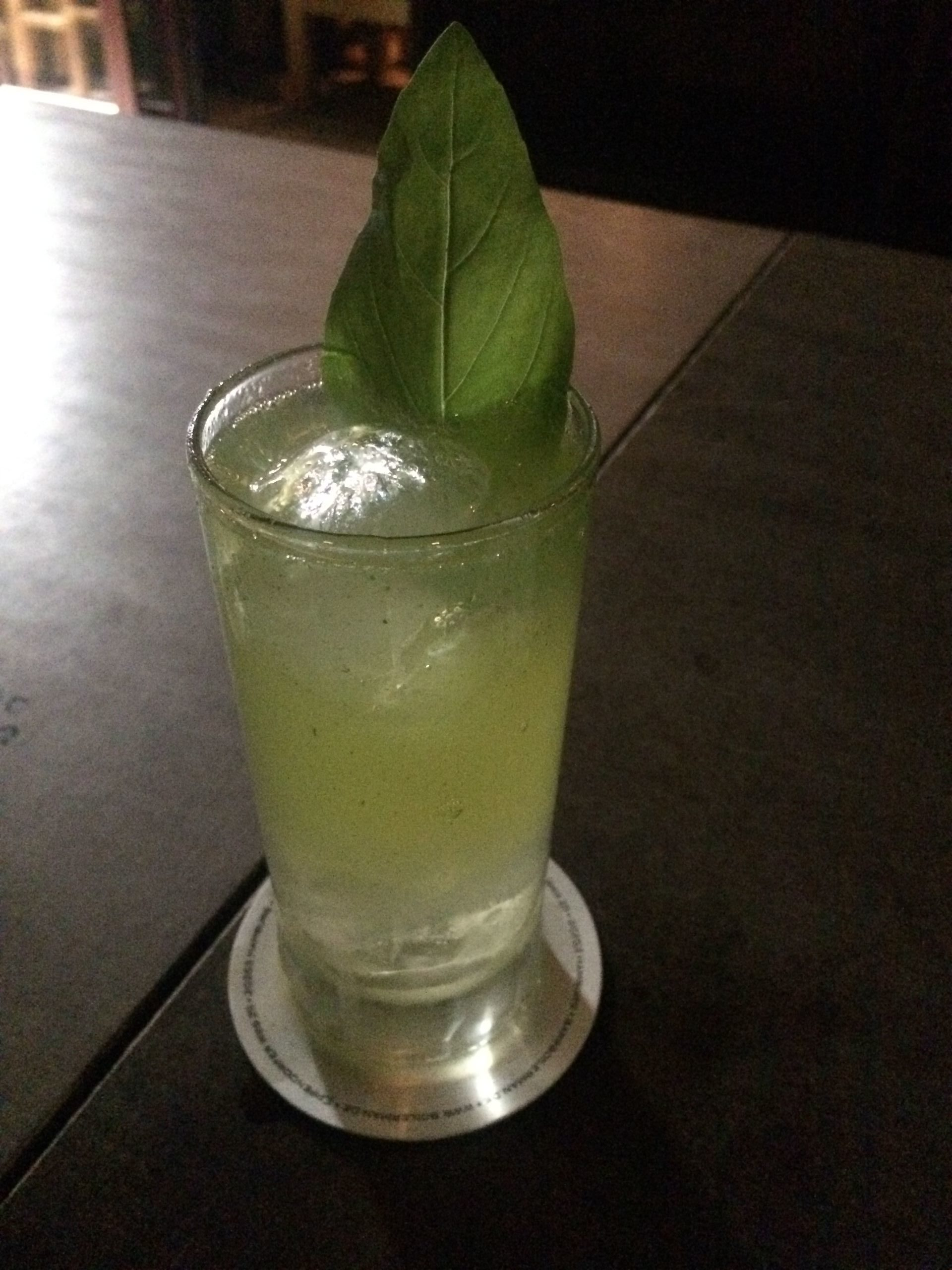 Boilerman Bar Gin Basil